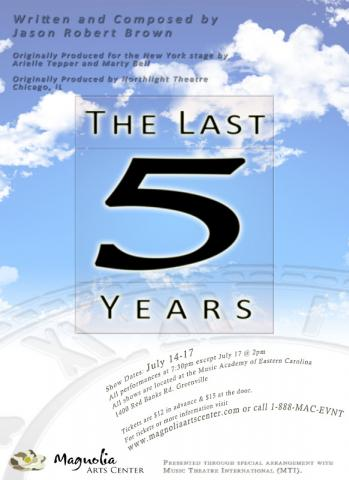 Last Five Years show poster